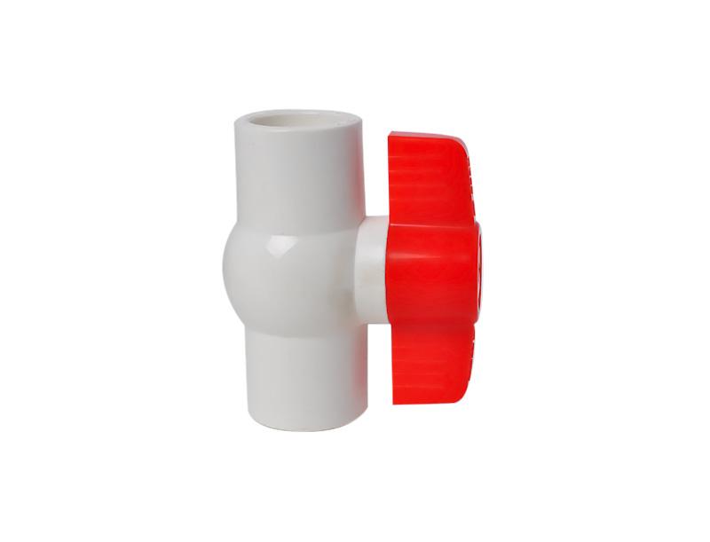 新款PVC圆体球阀